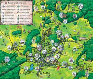Żarki mapa turystyczna
